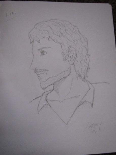 Loki - Sketch by Angie Capozello